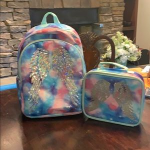 Trendy! Justice backpack and matching lunch tote